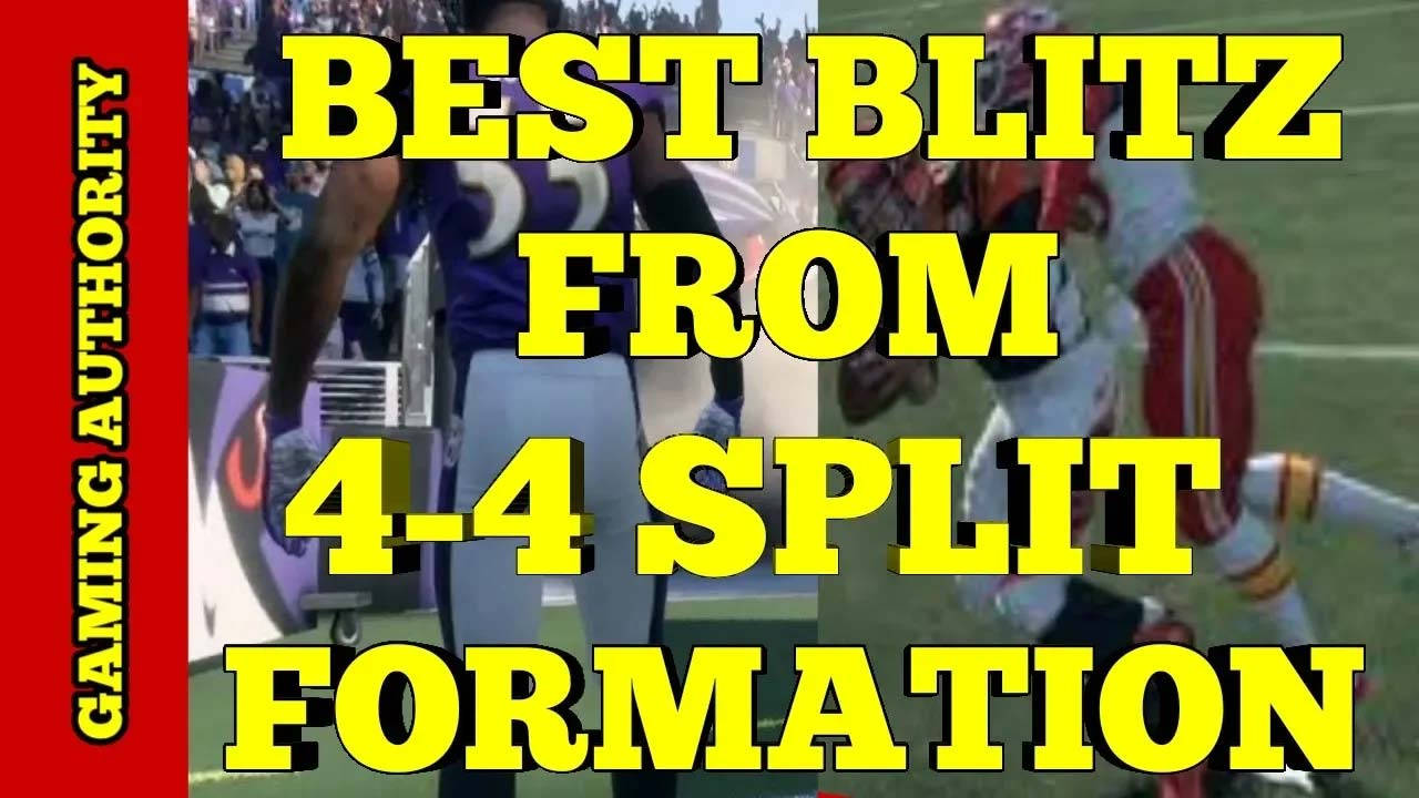 Best Blitz from 4-4 Split Formation - Madden 18